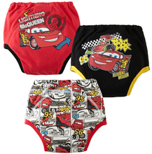 3pcs/lot Baby Training Pants Child Diaper Cover Reusable Washable Training Urine Nappy Children Underwear Cartoon Style