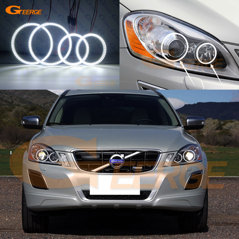 For Volvo XC60 2009 2010 2011 2012 2013 XENON HEADLIGHT Excellent Ultra bright illumination smd led angel eyes kit DRL