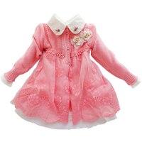 Children S Set Winter Autumn Girls Sweater Coat Cotton Dress 2 Pcs For Baby Suit Lace