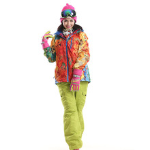 Dropshipping New Ski Suit Winter Sports Jacket Snowboard Wear Ski Jacket and Pants set Free Shipping outdoor snow suit for women