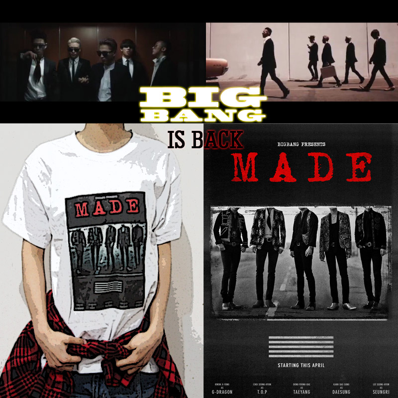 KPOP Bigbang G-Dragon Tshirt MADE Concert T-shirt GD Cotton Tee VIP TOP Taeyang
