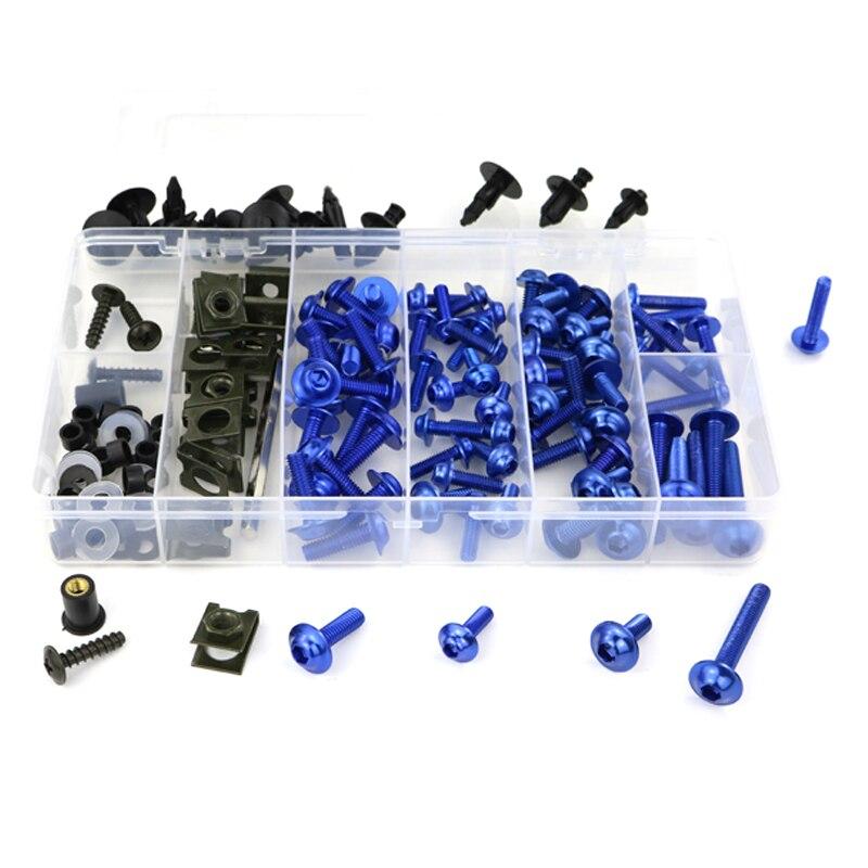 Обтекателя Болты комплект Шурупы Для Honda VFR750 VFR750F VFR800 VFR800X Crossrunner VFR1200X Crosstourer VTR1000 VTR1000F VFR1200F - Цвет: blue