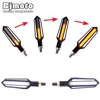 M10 Fluindo iluminação À Prova D' Água bicicleta 24LED ligue Sequential signal lâmpada de freio vermelho branco DRL Indicadores Antolhos luz flicker   -