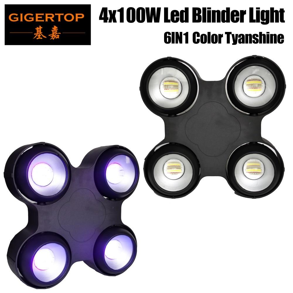 Livraison gratuite 400 W LED étanche lumière d'audience RGBW ambre violet 6IN1 couleur professionnelle en utilisant l'écran d'affichage à cristaux liquides COB Tyanshine