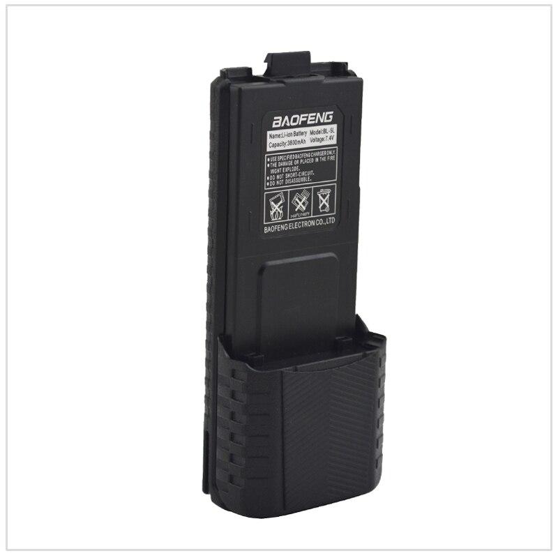 Nero Baofeng UV-5R walkie talkie Batteria Li-Ion 3800 mAh 7.4 V per Baofeng UV-5R, UV-5RA, UV-5RB, UV-5RC, 5RD, UV-5E, TYT TH-F8