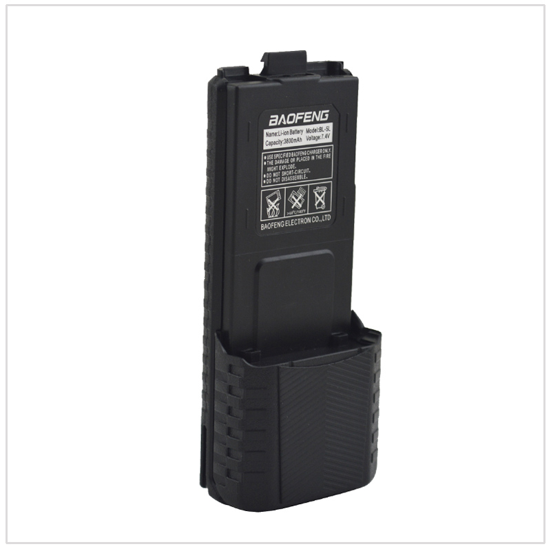 Noir Baofeng UV-5R talkie walkie Li-ion Batterie 3800 mAh 7.4 V pour Baofeng UV-5R, UV-5RA, UV-5RB, UV-5RC, UV-5RD, UV-5E, TYT TH-F8