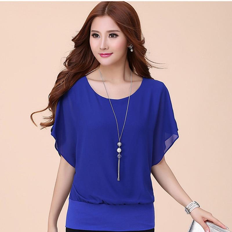 Women   Blouse     Shirts   Chiffon   Blouses   For Woman Summer Office Lady Plus Size Tops Women Batwing Sleeve   Shirts   Female   Blouses     Shirt