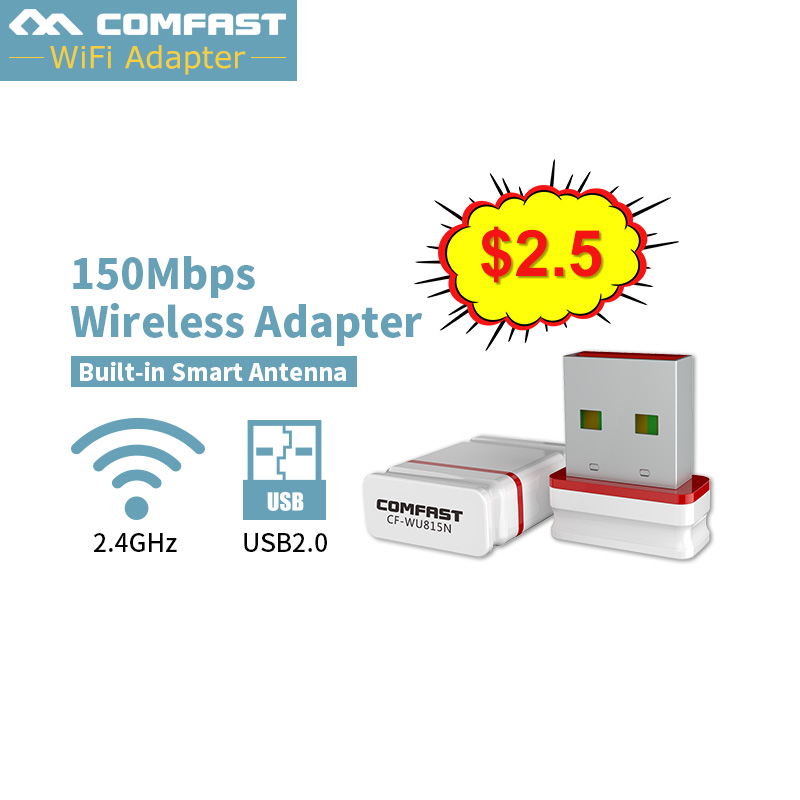 COMFAST 150Mbps Free Driver Usb CF-WU815N Wifi Adapter Mini USB PC Network Card 802.11n Router Function Wifi Receiver/transmiter