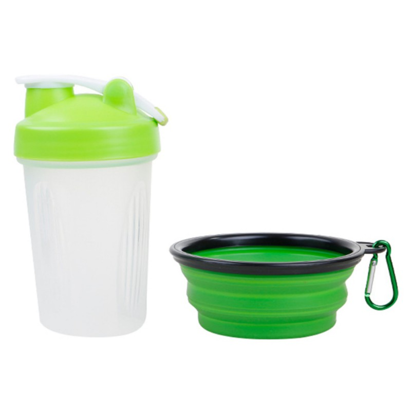 Portable 2 in 1 Pet Dog Feeder Drinker Travel Creative Suit Feeder For Dog Cat Outdoors Folding Bowl Pet Product Newest