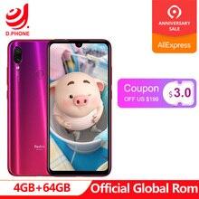 Resmi Küresel Rom Xiaomi Redmi Not 7 4 GB 64 GB Snapdragon 660 AIE Octa Çekirdek 6.3