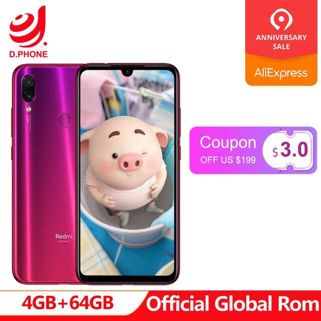 "Official Global Rom Xiaomi Redmi Note 7 4GB 64GB Snapdragon 660 AIE Octa Core 6.3"" Full Screen 48MP Rear Camera Cellphone"