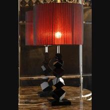 Европейской роскоши творческий современный черный кристалл настольная лампа спальня гостиная лампа тени SY-0235B Круглый