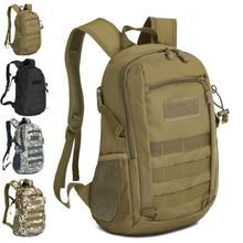 15L Outdoor Sports Nylon Canvas Waterproof Molle Bag Rucksack Men Camping Travel Student School Tactical Backpack Shoulder Bags