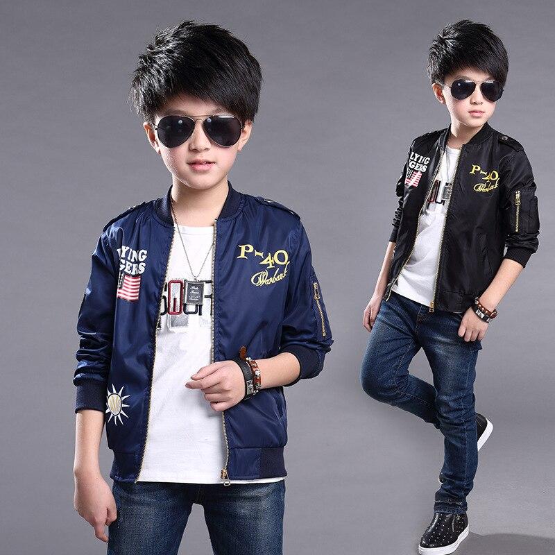 9cc28fbe9 Spring Jackets Boys Coats Outerwear Bomber Jacket Brand Cartoon Kids ...