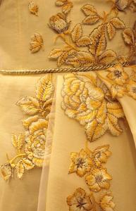 Image 5 - Vestido de noche musulmán amarillo, encantador, con tirantes finos, islámico de Dubái, Arabia Saudí, largo y elegante