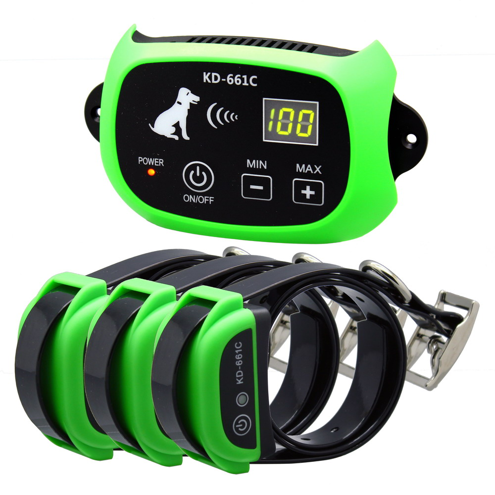 KPHRTEK  2018 New Arrival Wireless Pet Dog Electronic Fence System With Rechargeable Transmitter and Receiver Drop Shipping-in Other Dog Training Aids from Home & Garden    1