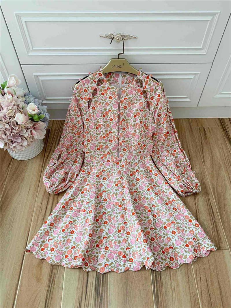 Truevoker дизайнер праздник Бутик платья для женщин высокого качества с пышными рукавами сексуальный вырез пуговицы Резорт Лен вечерние Vestidoes