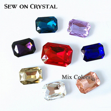Shiny HOT Sale Sew on Rhinestone Sewing Crystal Stone Mix colors crystal buttons stones use for Garment bags DIY Design