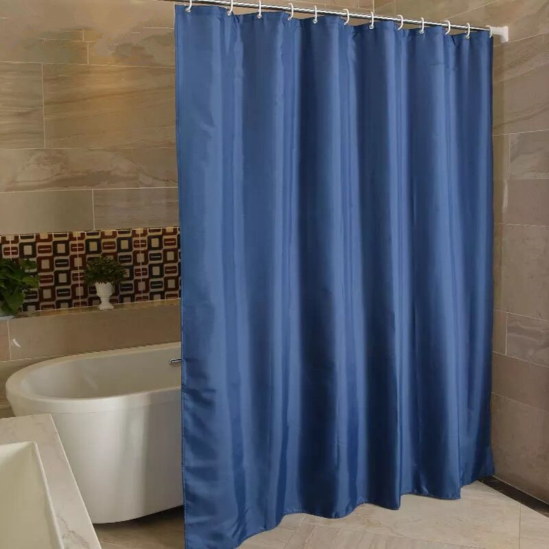 XYZLS Europe Solid Color Shower Curtain Polyester Waterproof Milewproof Thicken Bathroom Curtains With Hooks Products In From Home