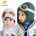 Venda quente do bebê Toddler Boy Girl crianças piloto aviador Cap lã quente chapéus Earflap Beanie inverno chapéu Earmuff Cap chapéu do bebê bonito