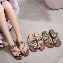 2019 New Fashion Women Sandals Wedges Sandals Black/Apricot/Green Spring/Summer Female Shoes Casual Lady Shoes Woman Footwear цена в Москве и Питере