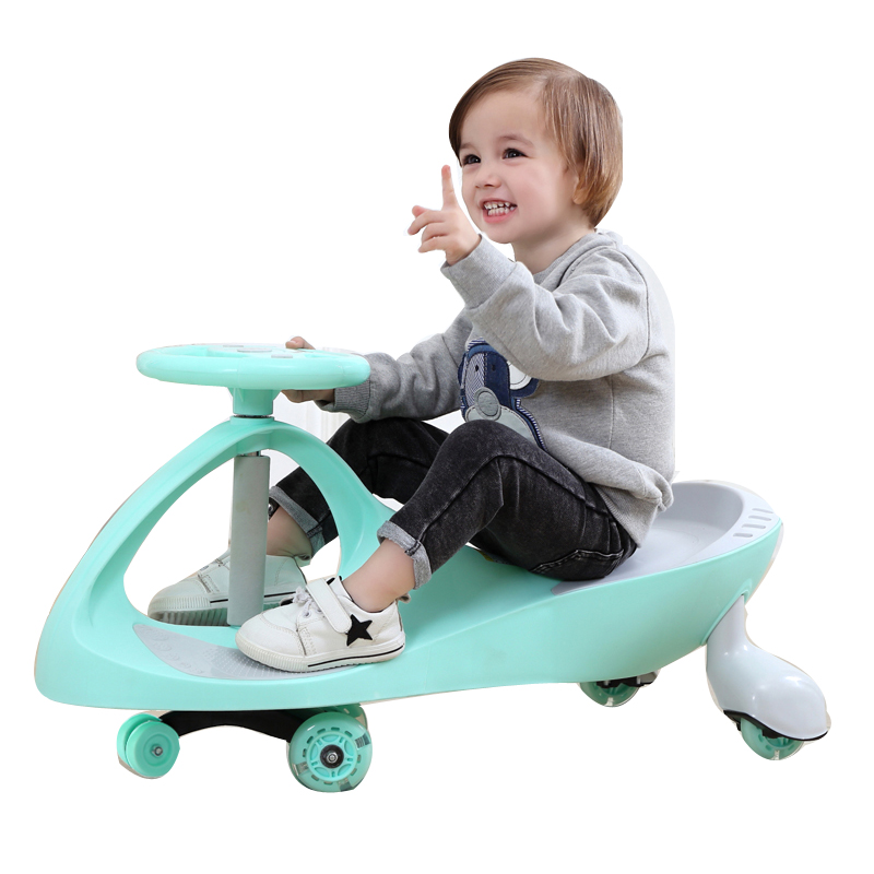 Walkers Logical Children Three Wheel Balance Car Scooter No Foot Pedal Children Swing Car Portable Baby Walker Tricycle Riding Toys Twist Car To Adopt Advanced Technology Mother & Kids