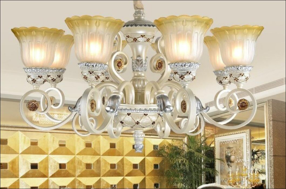 Multiple Chandelier 100cm 6 Heads Europe type sitting room resin restoring ancient ways bedroom ZX172 dali 14 1 6а