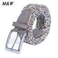 Cintos de Lona Unisex Tecido Pin Fivela Trecho Elástico Cinto Para Mulheres Dos Homens Cós Fivela Cinturones Hombre