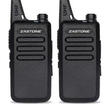 2Pcs/lot Zastone X6 UHF 400-470MHZ Mini portable walkie talkie 16 channels handheld walkie talkie portable transceiver Radio
