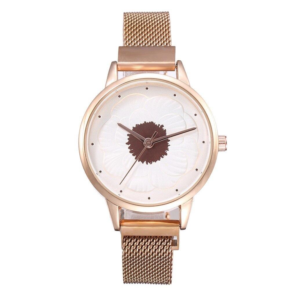 New women Watches Top Brand Luxury Ladies Mesh Belt Ultra-thin Watch Stainless Steel Waterproof Clock Quartz Watch