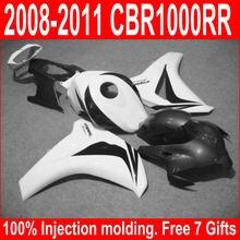 New Hot Injection Mold Fairing Kit Fit For Honda CBR1000RR 08 09 10 11 White Black Fairings Set CBR 1000 RR 2008-2011 YJ29