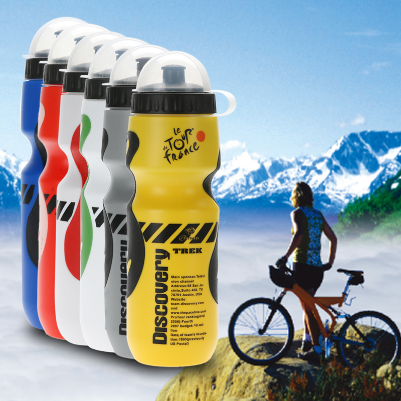 8 Colors 750ML Portable Outdoor Bike Bicycle Cycling Sports Drink Jug Water Bottle Tour De France Bicycle Bottle