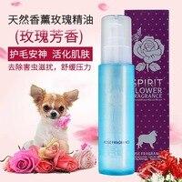 Dog Fur Hair Deodorant Essential Oil Perfume Golden Hair Teddy Hair Care Pet Shower Gel Rose