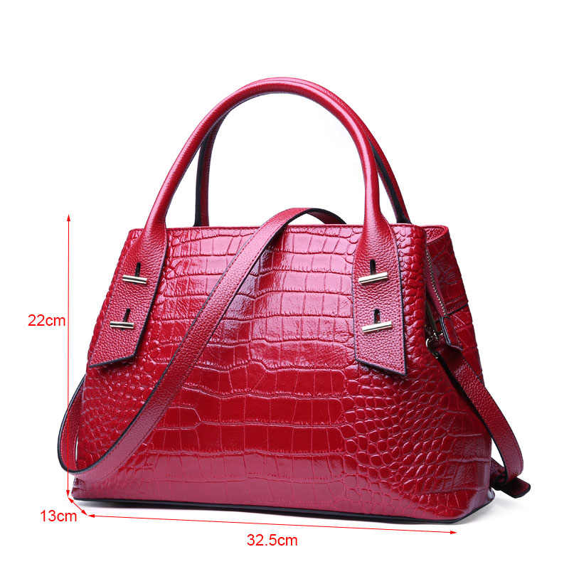 70f8cfa19bc DIENQI Alligator Genuine Leather Luxury Handbags Women Bags Designer Purse  Fashion Red Crossbody Bags for women 2019 sac a main
