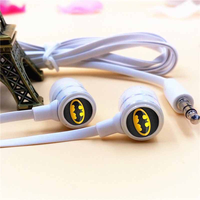 Anime Batman Cartoon In ear Earphones 3 5mm Stereo Earbuds font b Phone b font Music