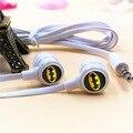 Anime batman dos desenhos animados fones de ouvido intra-auriculares 3.5mm fones de ouvido estéreo de jogo de esporte fone de ouvido de música do telefone para o iphone samsung mp3 mp4 player presente