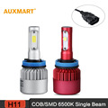 Auxmart H8/H9/H11 COB/SMD LED Conversion Kit 6500 К 8000/9600LM Вождение Противотуманные Фары один Луч Все-в-одном Лампа Фары 12/24 В