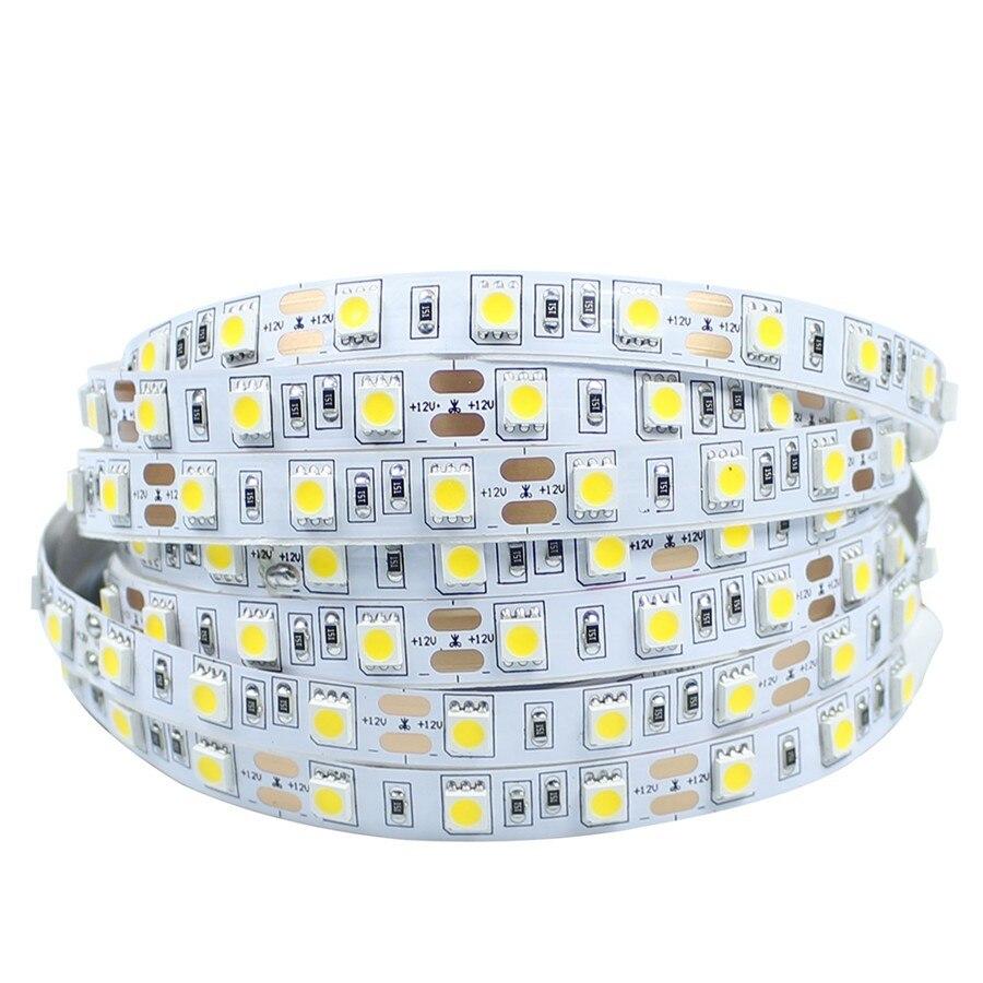 Светодиодные ленты 5050 SMD DC12V Светодиодные ленты гибкий свет 60leds/M 5 м rgb led ле ...
