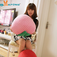 60cm creative strawberry plush toy stuffed lovely strawberry fruit pillow cushion doll valentines gift