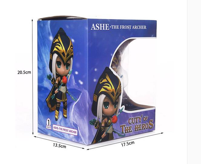 PVC Q Game Action Figure LOL Doll LUX AKALI VI Toy Home Car Decor Birthday Gifts