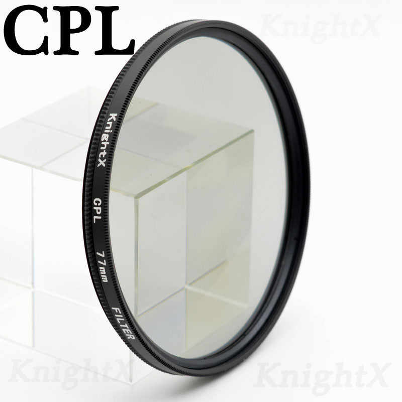 "KnightX FLD UV CPL ND כוכב מצלמה עדשת מסנן עבור canon sony nikon 52mm 55 מ""מ 58 מ""מ 67 מ""מ 77 מ""מ 700d 500d 1200d d3300 אבזרים"