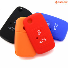 PINECONE for CHERY A5 FULWIN TIGGO E5 A1 COWIN EASTER Car Key Cover Styling 3 Button Silica Gel Key Case Shell 1 Pc цена