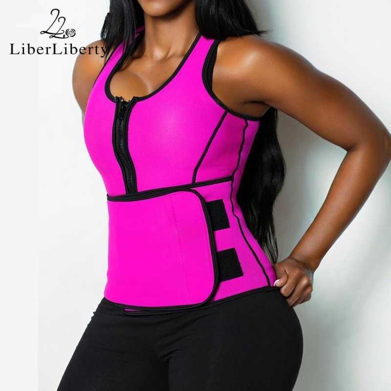 2018 heißer Frauen Taille Ausbildung Weste Ultra Schweiß Neopren Gym Lauf Fett Verbrennen Abnehmen Tops Sport Körper Former Plus Größe shapewear