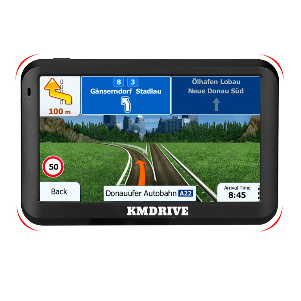 "KMDRIVE 5 "" inch Car Truck GPS Navigation Sat Nav FM 8GB MP3/MP4 Players Bundle Free maps-in Vehicle GPS from Automobiles & Motorcycles    3"