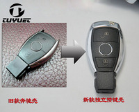 Updating New 2 Buttons Modified Smart Remote Key Shell For Mercedes Benz S Series Car Key