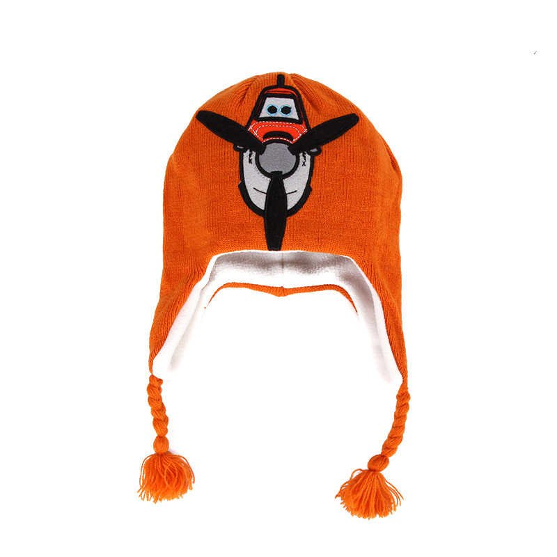 08222eccd9d Anime Plane Dusty Airplane Design Kids Children Winter Baby Boy Girl Bomber  Cap Warm Knitted Braided