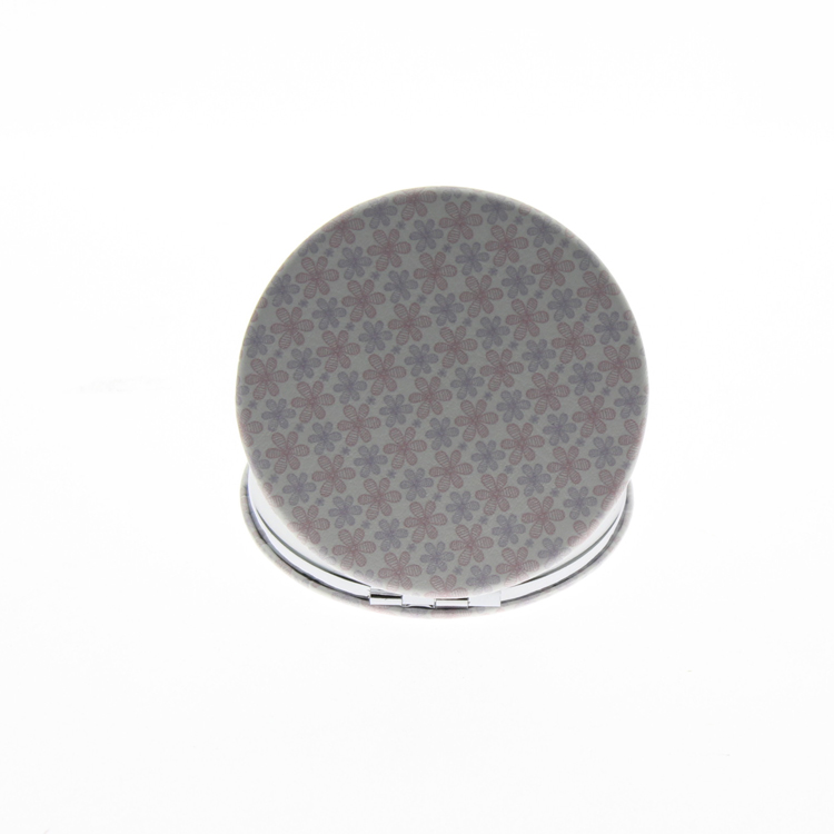 6cm Round Double Sided Stainless Steel Folding Portable Cute Small Travel Vanity Mirror