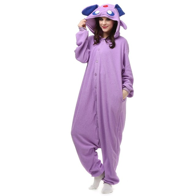 Unisex Kigurumi Pyjamas Cosplay Costume Onesie Sleepwear Homewear Pajamas Party Clothing Anime Pokemon Master Espeon pikachu