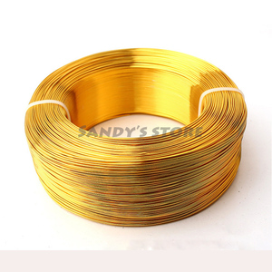 Image 5 - Wholesale Thickness 0.8mm 20 Gauge 0.5kg Silver Gold Champagne Anodized Aluminum Jewelry Craft Making Dead Soft Metalic Wire