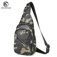 Men Vintage Waterproof Camouflage Sling Chest Bag Cross Body Shoulder Messenger Travel Bags New